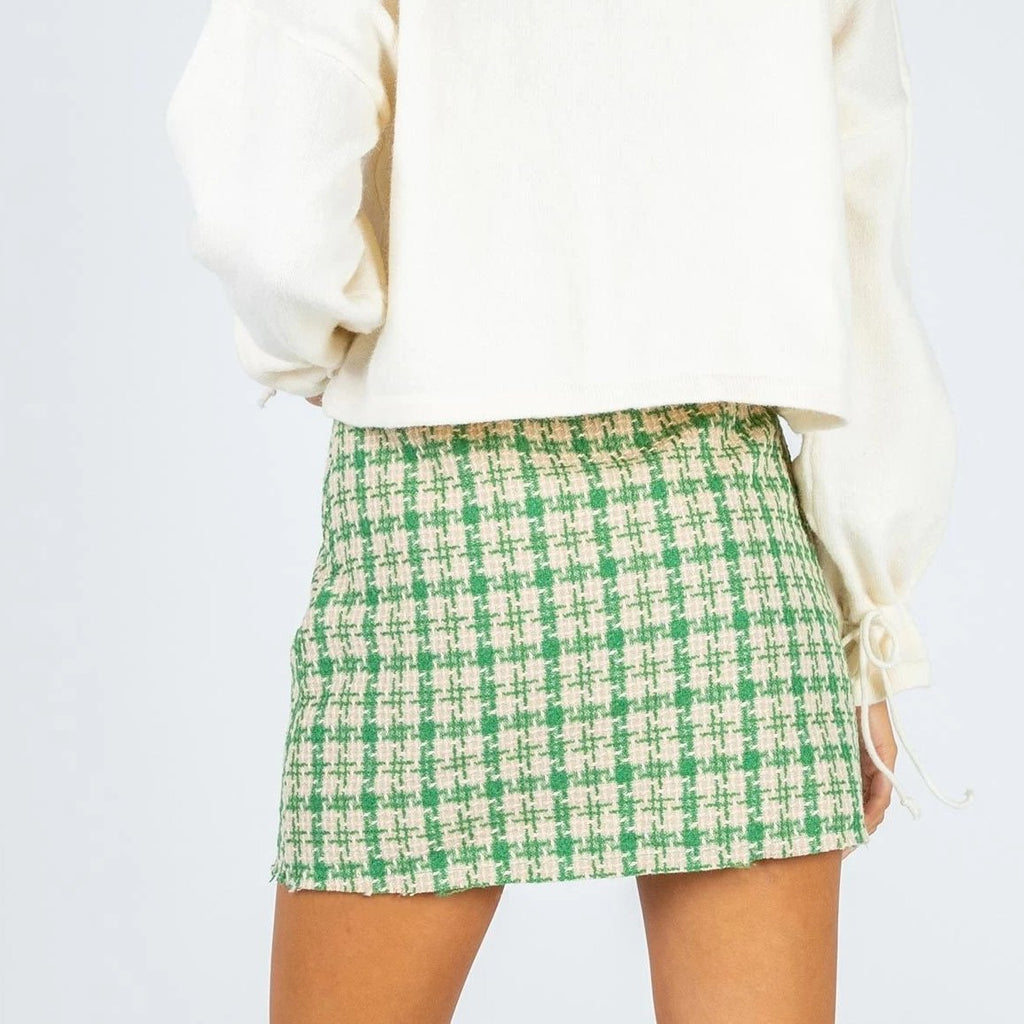 Plaid Women's Skirt A-line Slim High Waist Mini Skirt