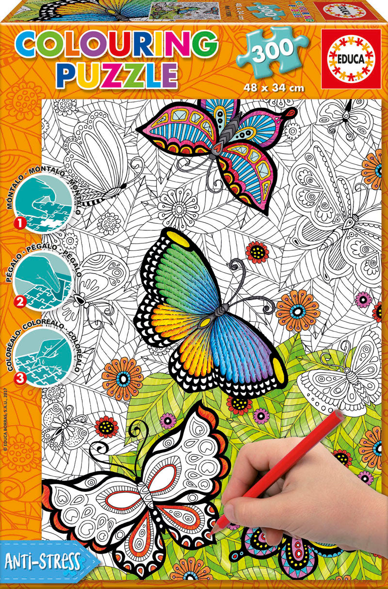 300 Colouring Puzzle - All Good Things Are Wild And Free