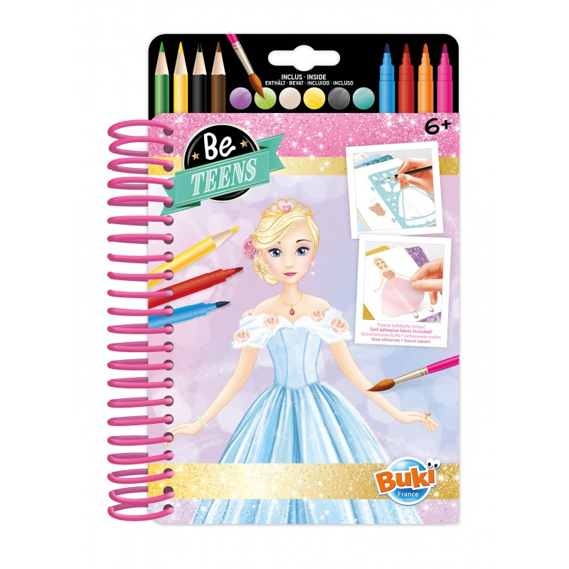 Be Teens Carnet D'Esquisses Tenues de Princesses