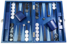 Charger l'image dans la galerie, Backgammon Louis Patiné Medium Bleu Roi