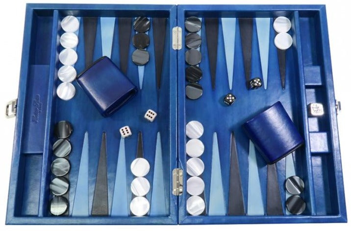 Backgammon Louis Patiné Medium Bleu Roi