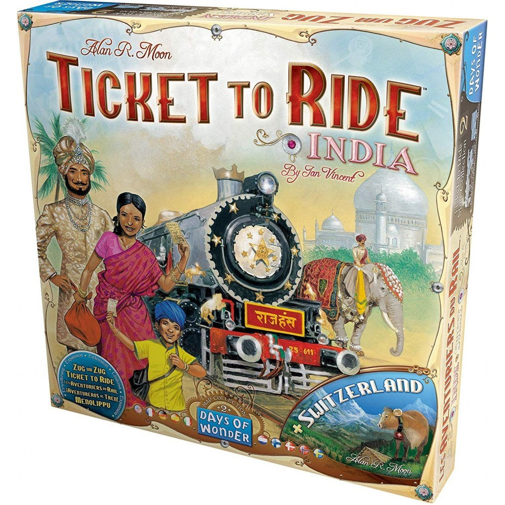TTR TICKET TO RIDE MAP COLLECTION N°2 INDIA & SWIZERLAND