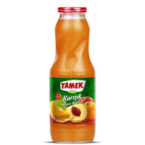 Tamek Mix Juice 1lt Glass - Karisik Meyve Suyu