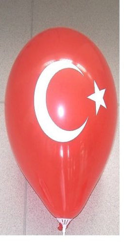100 pcs Balloons,Turkish Flag,100 pcs Ballon Sticks &100pcs Balloon Holders