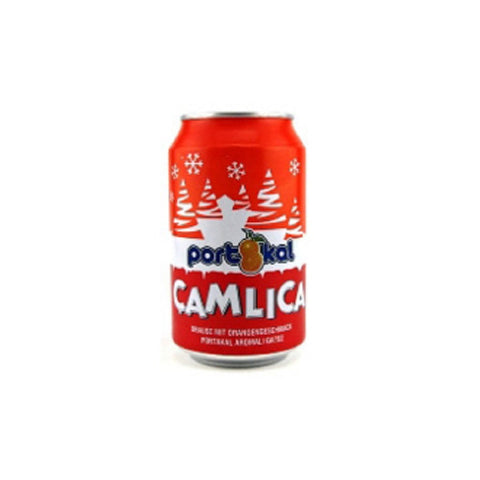 Camlica Gazoz Portakalli / Soda W/Orange Flavor - 330 ml can