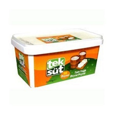 Teksut Tam Yagli Koyun Peyniri - Full Fat Sheep`s Milk Cheese 1 Kg ( 2.2 Lbs )
