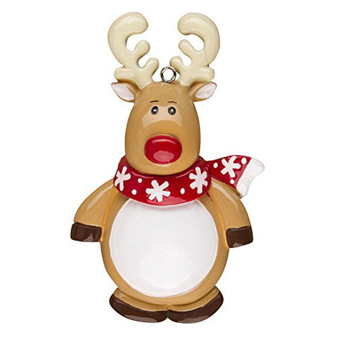 Reindeer Character Personalized Christmas Tree Ornament