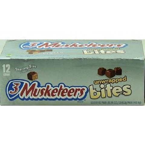 3MUSKETEERS KING SIZE UNWRAPPED BITES 2.83 oz Each ( 12 in a Pack )