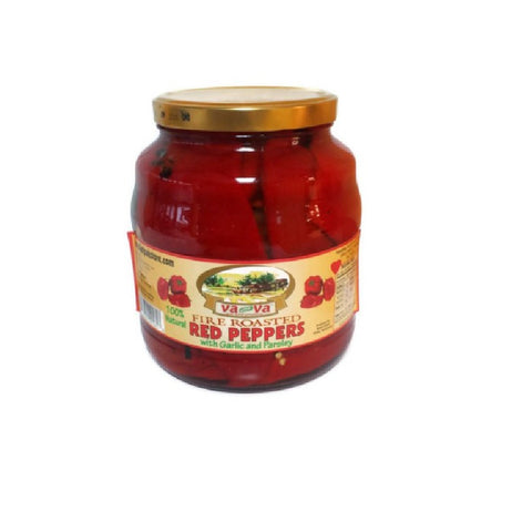 VaVa Fire Roasted Red Peppers - 3.6 Pound Jar