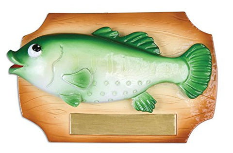 Fish Bass on Plaque Personalized Ornament