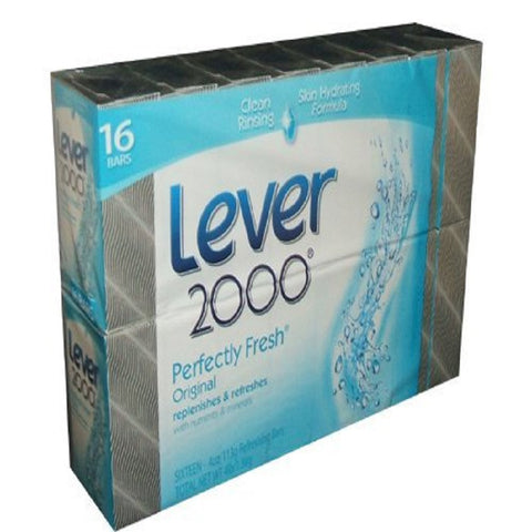 Lever 2000 Perfectly Fresh Original Scent Bar Soap 4 Ounce Bars (Pack of 16)
