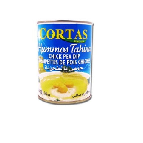 Cortas Hummus Tahini Chick Peas Dip, Ready to Serve, Pack of 6, 14 Oz X 6