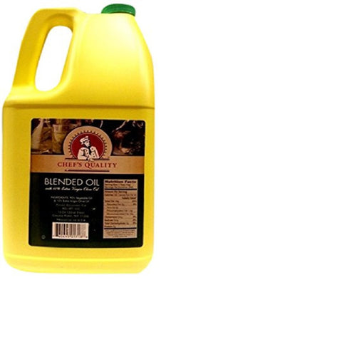 Chef's Quality Blended Vegetable Oil and Extra Virgin Olive Oil, 48 Pound