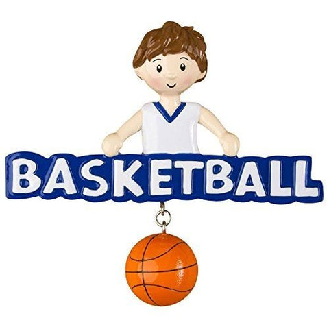 Basketball Boy Personalized Christmas Tree Ornament