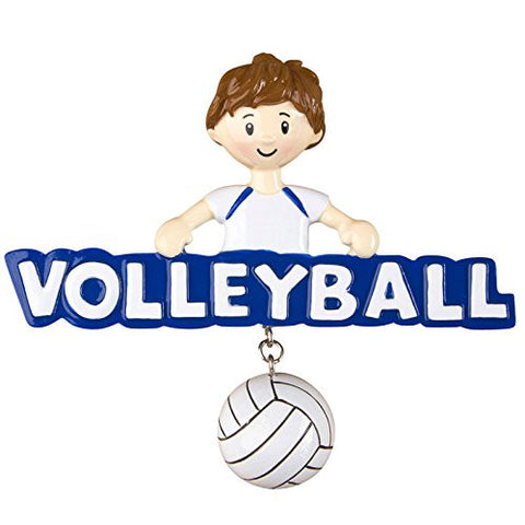 Volleyball Boy Personalized Christmas Tree Ornament