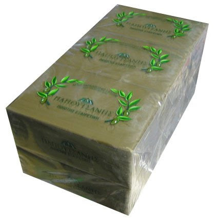 Papoutsanis Pure Greek Olive Oil Soap Of Bars 6 Pack 125 Gr ( 4.4 Oz )