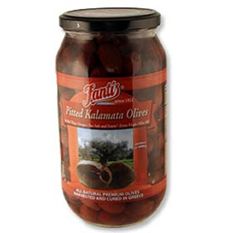 Fantis Pitted Kalamata Olives 1L Jar