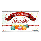 Hacizade Turkish Delight Assorted Fruit Candy, Rose, Mint, Lemon and Orange, 16 Ounce