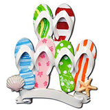 Flip Flop Travel Beach Family of 6 Personalized Christmas Tree Ornament