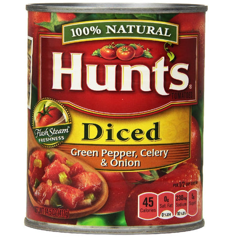 Hunt's Diced Tomatoes With Green Peppers, Celery And Onion, 14.5-Ounce Units (Pack of 12)