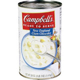 Campbell's New England Ready-to-Serve Clam Chowder, 50-Ounce