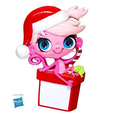 LPS Minka Mark w/Santa Hat Personalized Christmas Tree Ornament