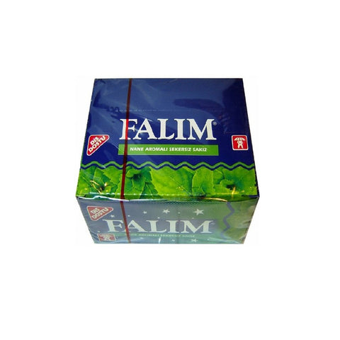 Sugarless Falim Plain Gum - Mint Flavoured - 100 Pieces - Individually Wrapped