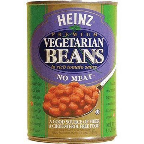 Heinz, Premium Vegetarian Beans in Rich Tomato Sauce, No Meat, 16oz Can (Pack of 6)
