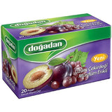 Dogadan Grape Seeds with Plum Tea, 3 Pack (Each 20 Tea Bags x 3)