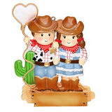 Cowboy Couple Personalized Christmas Tree Ornament