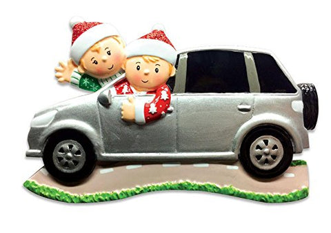 Family Series Car SUV Family of 2 Couple Personalized Christmas Tree Ornament