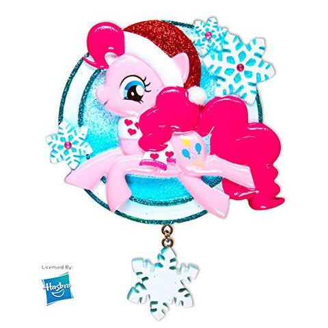 MLP Pinkie Pie w/Snowflake Personalized Christmas Tree Ornament