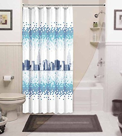 Jackline Luxury Shower Curtain Theme of NEW YORK View 79