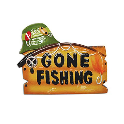 Gone Fishing Fisherman Personalized Christmas Tree Ornament