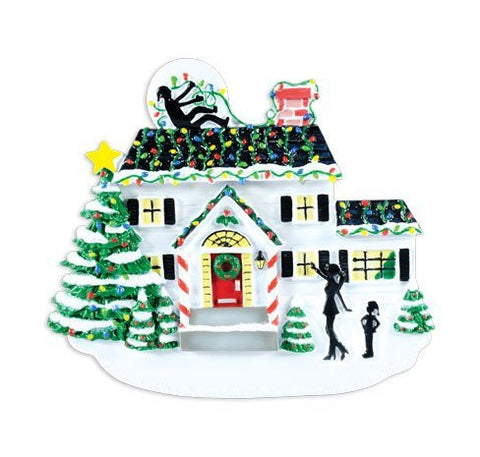 Griswald House with Lights Personalized Tree Ornament