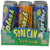 Kidsmania Soda Can Fizzy Candy 12 Count