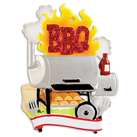 BBQ Smoker Personalized Christmas Ornament
