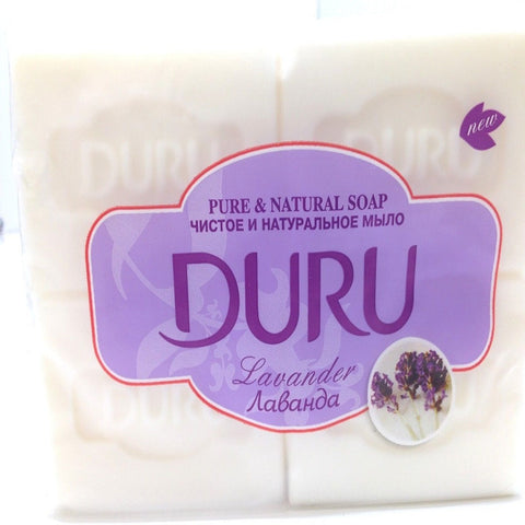 Pure & Natural Soap by Duru, Lavander,4 x 140 g, Turkish, 4 Count, FAST SHIPPING