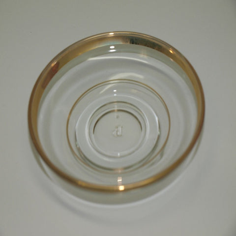 Tea Glass Saucers with Gold Trimming (6 Pcs)