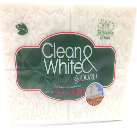 Clean & White Soap by Duru, 4 x 125 g, Turkish, 4 Count, FAST SHIPPING!!