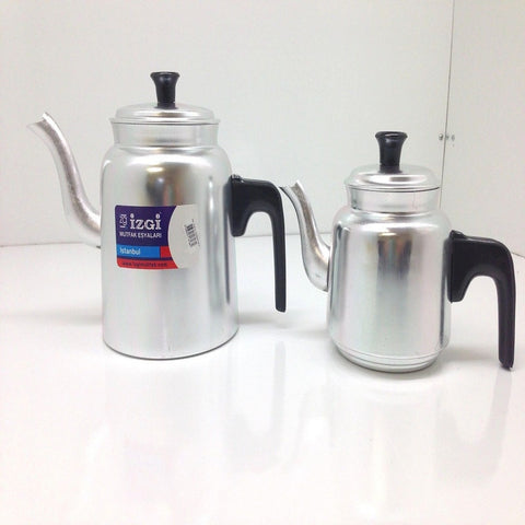 ALUMINUM MEDIUM SIZE TURKISH TEAPOT KETTLE SET MEDIUM SIZE