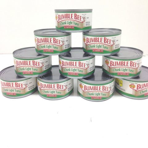 Bumble Bee Chunk Light Tuna In Oil, Pack of 10