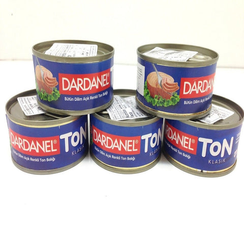 Canned Tuna in Sunflower Oil, Dardanel Ton, 5 Canned of Tuna, Turkish