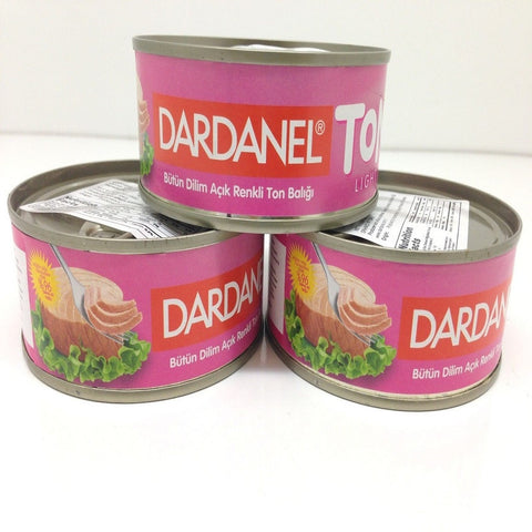 Canned Light Tuna in Brine, Dardanel Ton Light, 3 Canned of Tuna, Turkish
