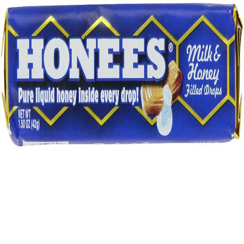 Ambrosoli Honees Milk & Honey Filled Drops, 1.50-Ounces Bars (Pack of 24)