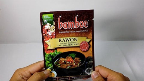 Bamboe Bumbu Instant Rawon - East Java Meat Soup, 54 Gram (Pack of 3)