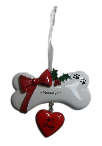 Personalized Bone Christmas Holiday Gift Expertly Handwritten Ornament