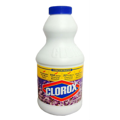 Clorox Concentrated Lavender Scented Bleach, 30 Fl Oz, 12 Pack
