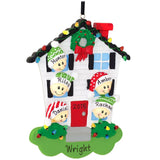 House Family  Personalized Christmas Tree Ornament