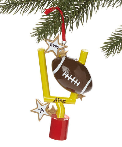 1 X Football Personalized Christmas Ornament